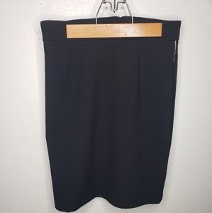 H&M 6 Black Skirt with Silver Stripe on Sides